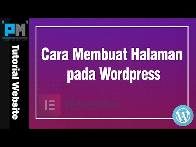 Dasar Membuat Page pada WordPress #16