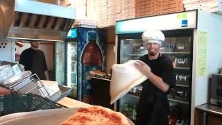 Pizza making at Munchy