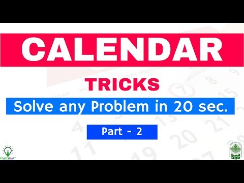 Calendar Reasoning Tricks to Solve any Problem in 20 sec. | SSC CHSL/ RRB   [ In Hindi ] Part 2