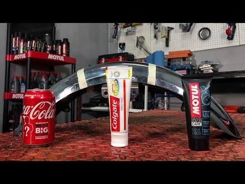 Motorcycle Chrome Restore: Motul Chrome Polish vs. Coke vs. Toothpaste