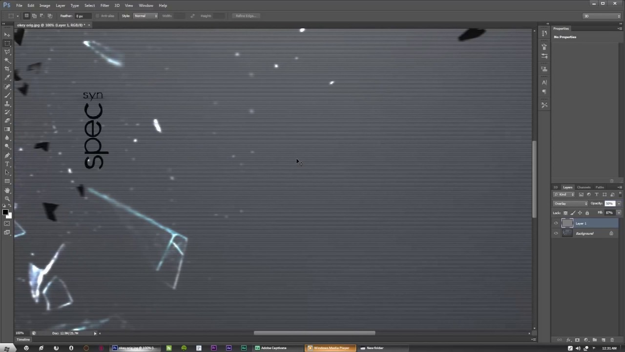 how to make static video effect