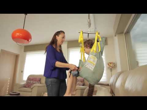 Hm 2800 Ceiling Hoist With Child Sling Video Youtube