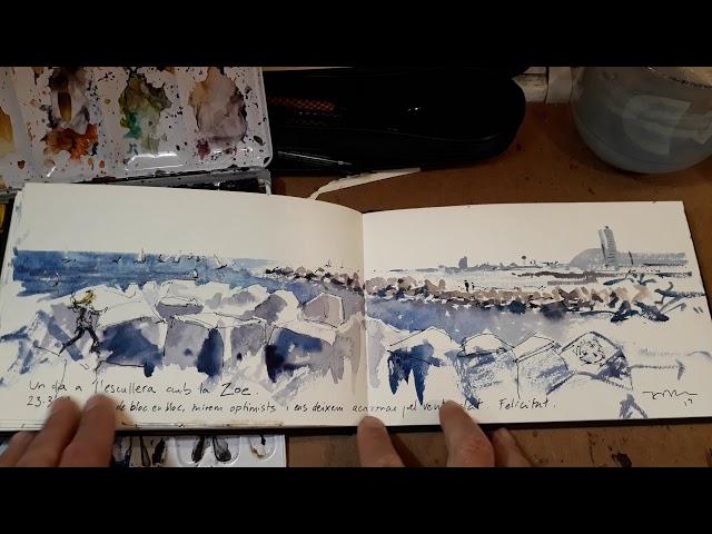 Skyline de Barcelona [1 pintura en 1 minut]
