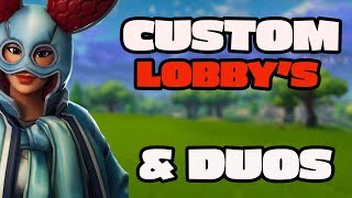 [LIVE NOW] FORTNITE - GIVEAWAY AT 420 SUBS - EU CUSTOM MATCHMAKING - SCRIMS - DUOS WITH SHRUBY BABY