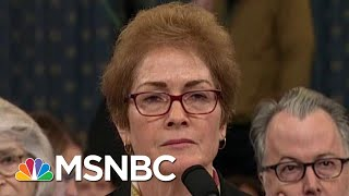 'Injurious': Trump Attacks Impeachment Witness During Testimony | The Beat With Ari Melber | MSNBC