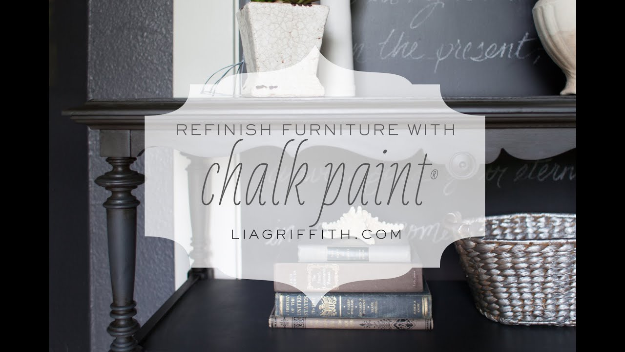 Annie Sloan Black Chalk Paint Tutorial