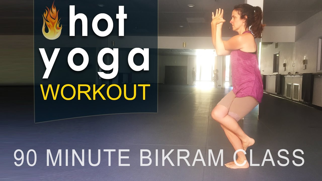 Hot Yoga Full Bikram Yoga Class 90 Minutes Youtube