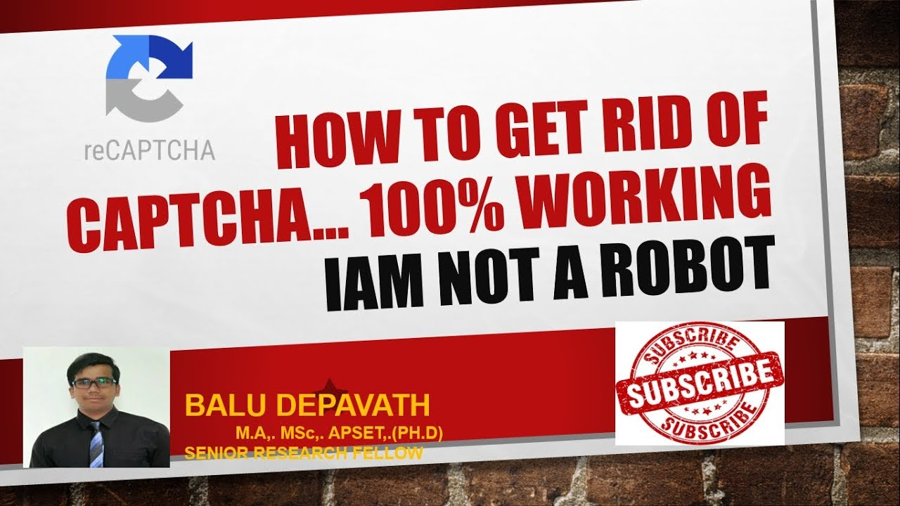 HOW TO GET RID OF CAPTCHA    100% WORKING   REMOVE CAPTCHA