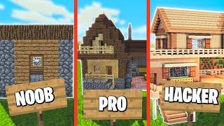 *Noob vs Pro vs Hacker* Casa Rústica Minecraft Construcciones