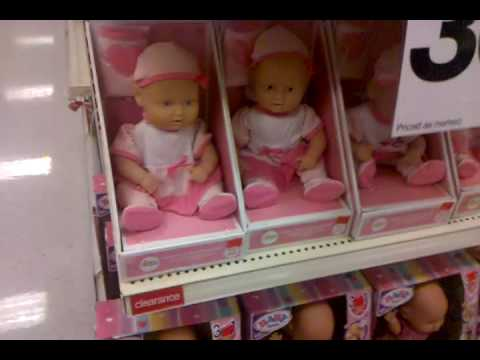 creepy baby dolls at target youtube. Black Bedroom Furniture Sets. Home Design Ideas