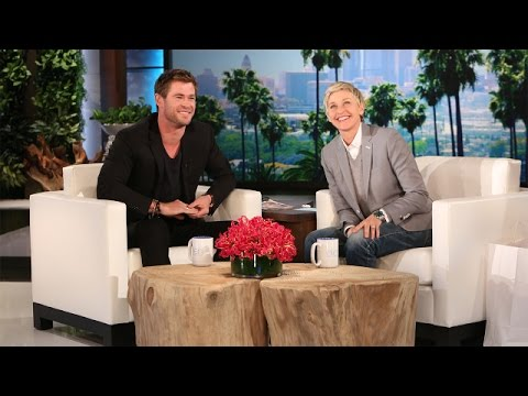 Ellen's Hot Guys: Chris Hemsworth Speaks Some Strange Langua