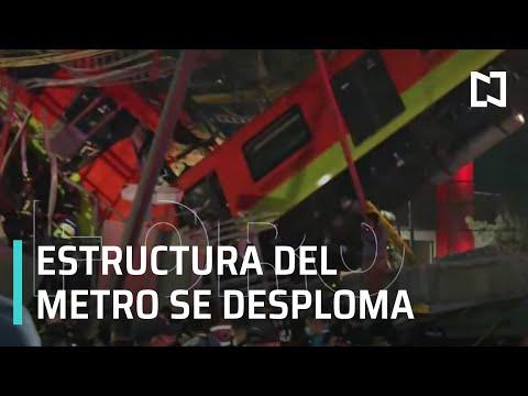 Se desploma tramo del Metro CDMX
