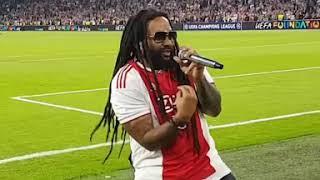 Bob Marley's son singing 'Three Little Birds' with Ajax fans