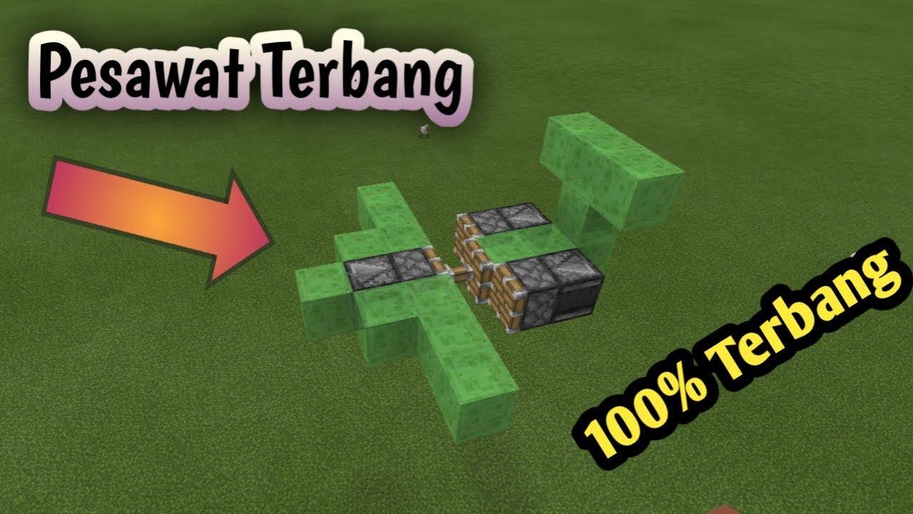 Cara Membuat Pesawat Terbang Di Minecraft Youtube