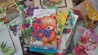Подарок на ДР от Надежды и открытки от девочек из группы