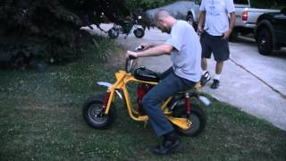 MINI BIKE WHEELIE PRACTICE