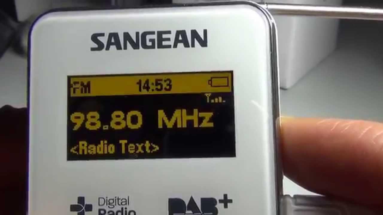 Sangean DPR-36 DAB+/FM-RDS/MP3/Micro SD Pocket Radio Receiver review ...