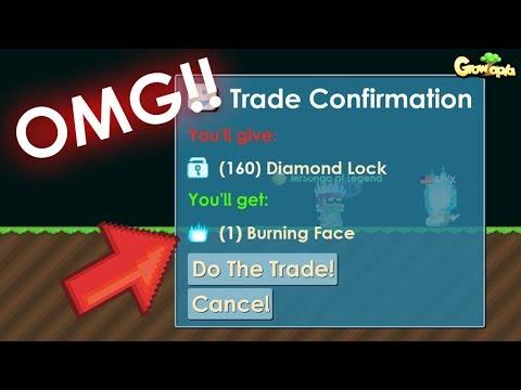 GrowTopia   Buying Burning Face ( Mod Item )!!   OMG!!