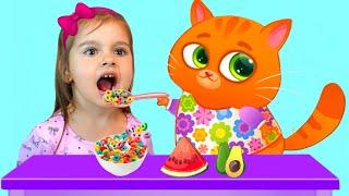 Котик Бубу хочет быть хорошей няней для Арины | Арина и Bubbu играют вместе в игре