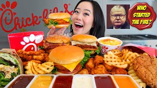 Best Chick-Fil-A Spicy Fried Chicken Sandwiches Mukbang! + Chicken Tenders & Chicken Nuggets