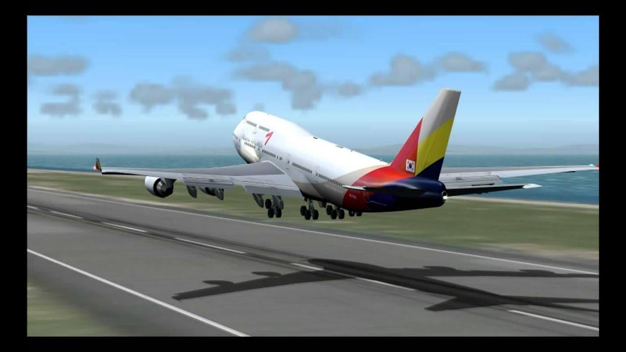 747-400 ASIANA AIRLINES HONG KONG - SEOUL - YouTube