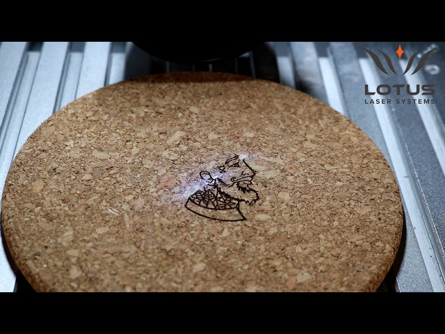 Lotus Laser Systems Meta C 5w UV laser engraving cork