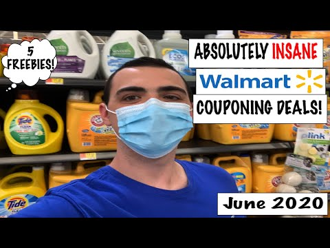 ABSOLUTELY INSANE WALMART COUPONING DEALS! (5 FREEBIES)– JUNE 2020