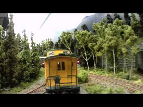 Video tour on the Moose River Model Railroad in Bar Harbor, Maine
