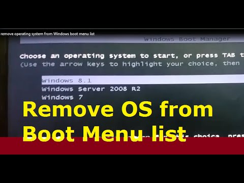 How to remove Operating system from the Bootloader or Windows Boot Manager