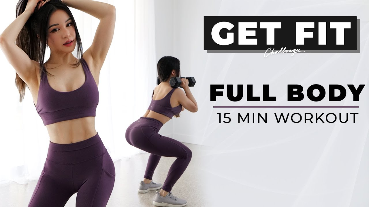 15 Min Full Body Workout to GET FIT | 2021 Get Fit Challenge