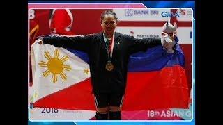Unang gold medal ng Pilipinas sa 2018 Asiad, nakamit ni Hidilyn Diaz sa women's weightlifting