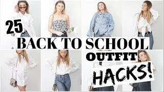 25 OUTFITS FROM 6 PIECES! Small Wardrobe Hacks!