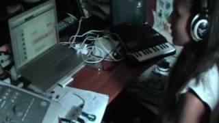 На студии (Jahna, Oxxxymiron, Mark/Tribe)