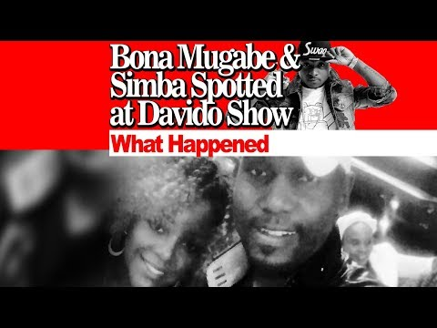 Bona Mugabe and Simba Chikore Spotted at The Davido Show, Watch What Happened