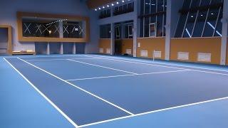 видео строительство теннисных кортов