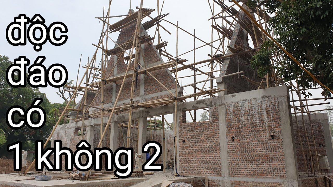 NHÀ CẤP 4 MÁI THÁI THIẾT KẾ CÓ 1 KHÔNG  2 //  xem bác thợ xây cuốn vòm