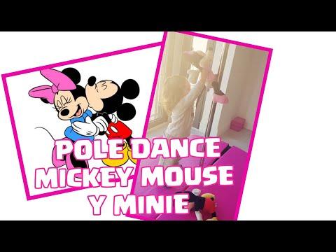 Mi Niña bebe Juega con Mickey Mouse y Minie  /Pole DANCE infantil/ play /toys/Jugando