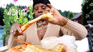 ASMREating BOIL Crab Legs Garlic Seafood