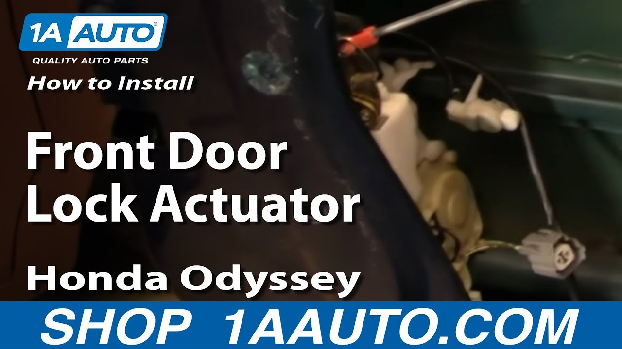 How To Replace Door Lock Actuator 99 04 Honda Odyssey Youtube