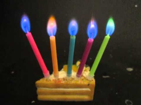 color flame birthday party candles wholesale