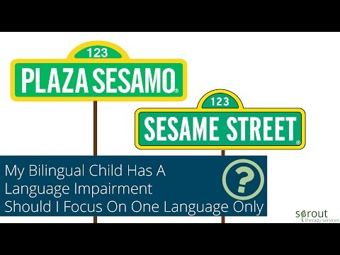 My bilingual child has a language impairment Should I focus on one language only