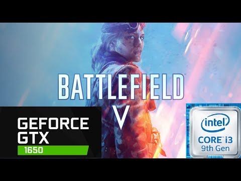 Battlefield V GTX 1650 Super I3 9100f Gameplay Benchmark