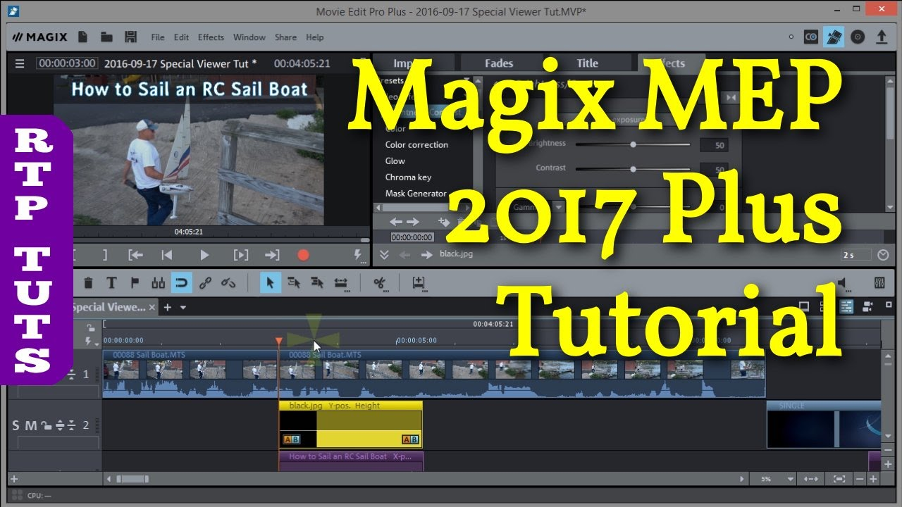 Magix Movie Edit Pro 2017 Plus Tutorial For The Beginner All Steps