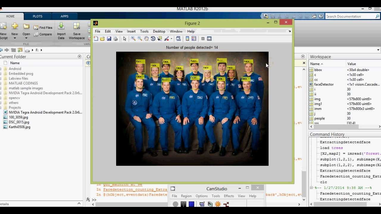 Facial feature extraction matlab