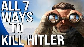 Sniper Elite 3 - ALL Seven Ways to Kill Hitler - Hunt the Grey Wolf