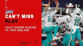 CRAZY ENDING in Dolphins vs. Patriots!