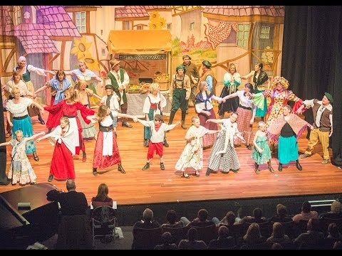 27up (part 2) Pantomime Sleeping Beauty at Queen's Hall Arts Centre Hexham Jan 2016