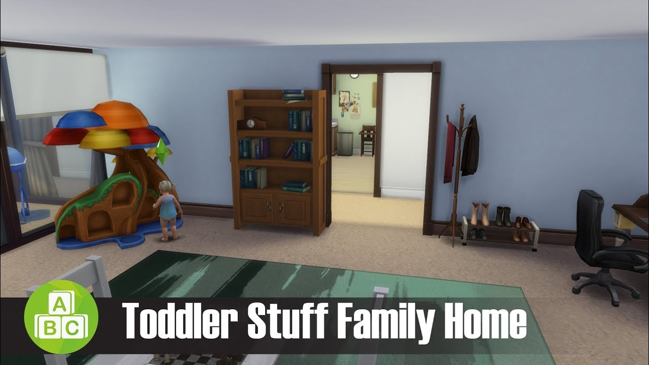 Toddler Stuff Family Home l Sims 4 House Building - YouTube