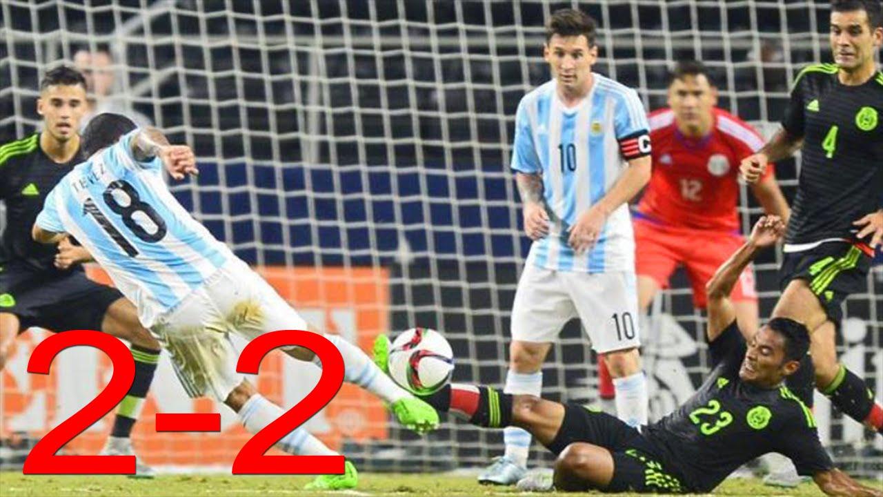 Mexico vs Argentina 2-2 RESUMEN GOLES COMPLETO Partido Amistoso 2015 - YouTube