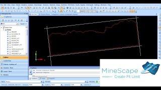 Minescape Open Cut 1 Create Pit Limit
